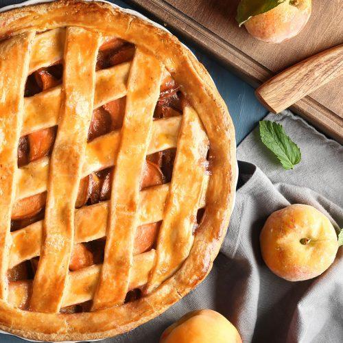 From scratch peach pie