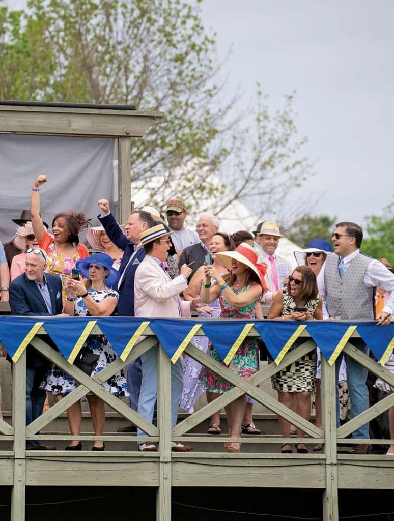 Celebration at the gold cup