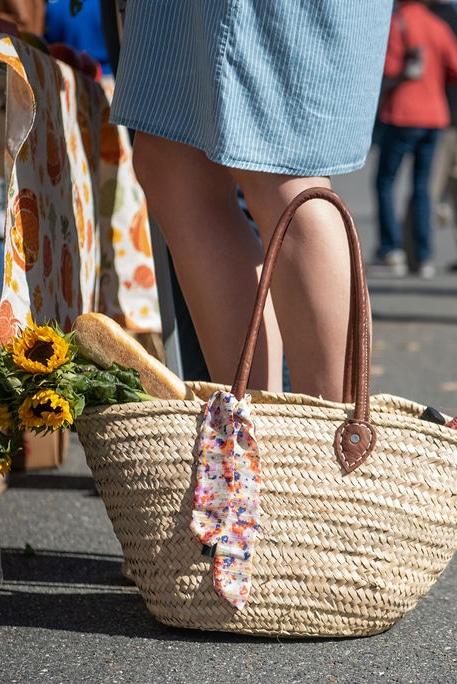 Basket in a farmers market