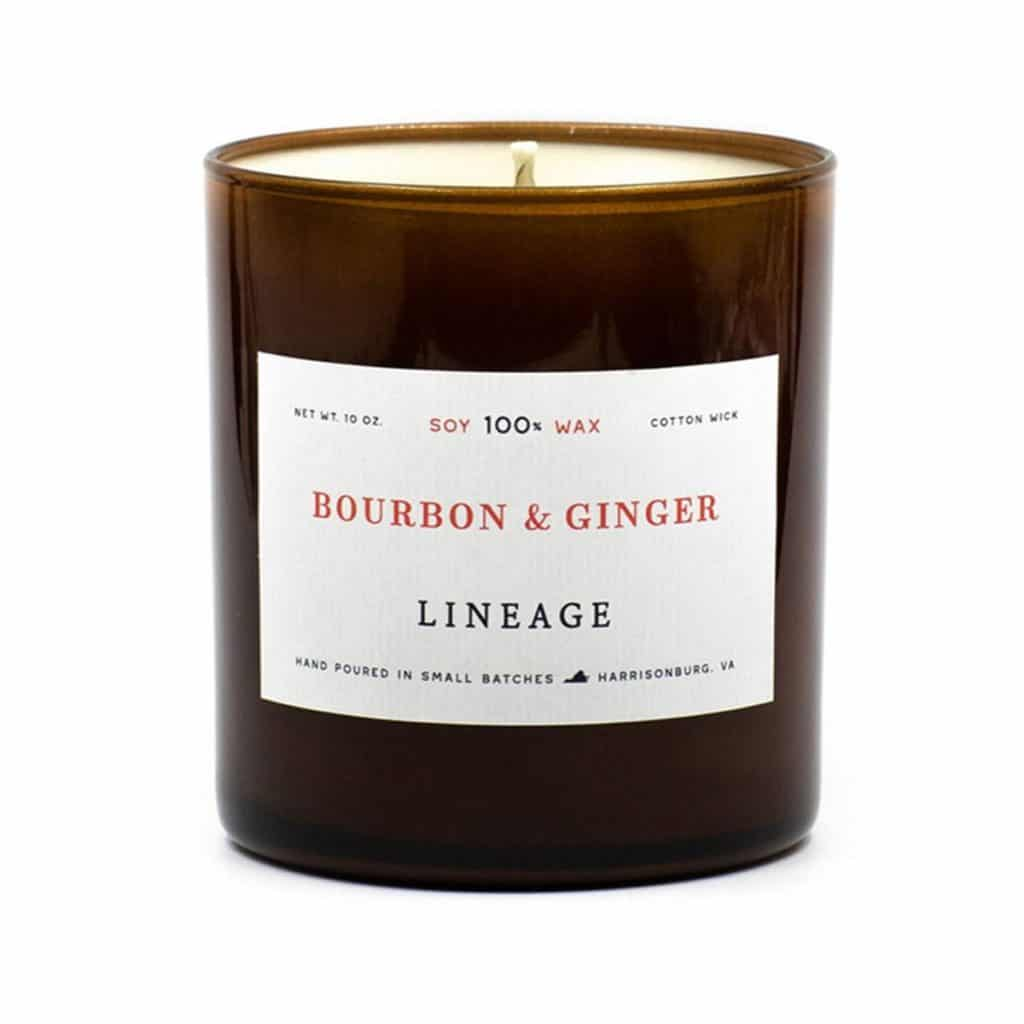 Bourbon and Ginger wax candles