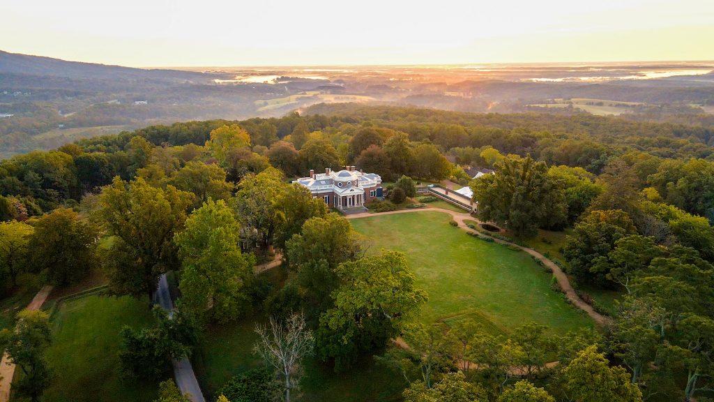 Overhead shot of Monticello