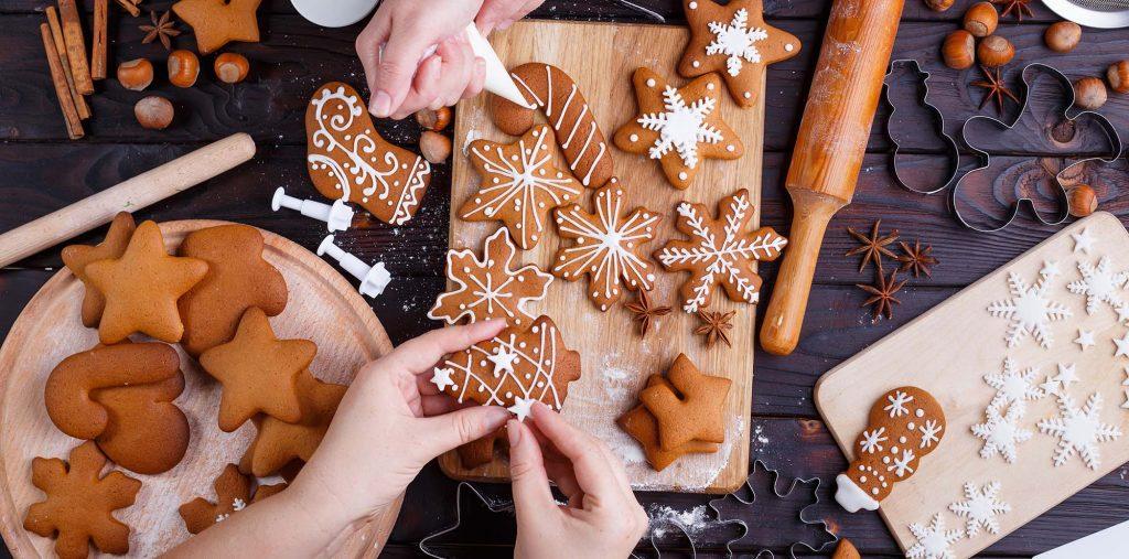 Christmas gingerbread making
