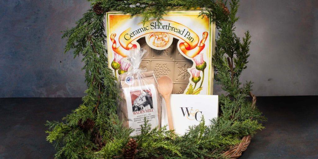 Ceramic shortbread pan gift set