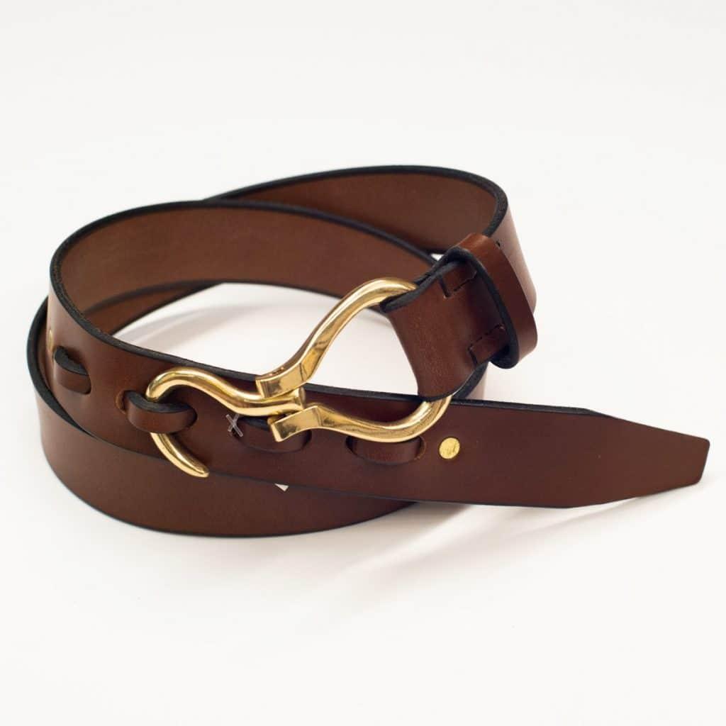 Leather Gold Hoof Belt