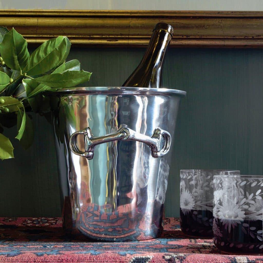 Silver Equestrian Wine Bucket