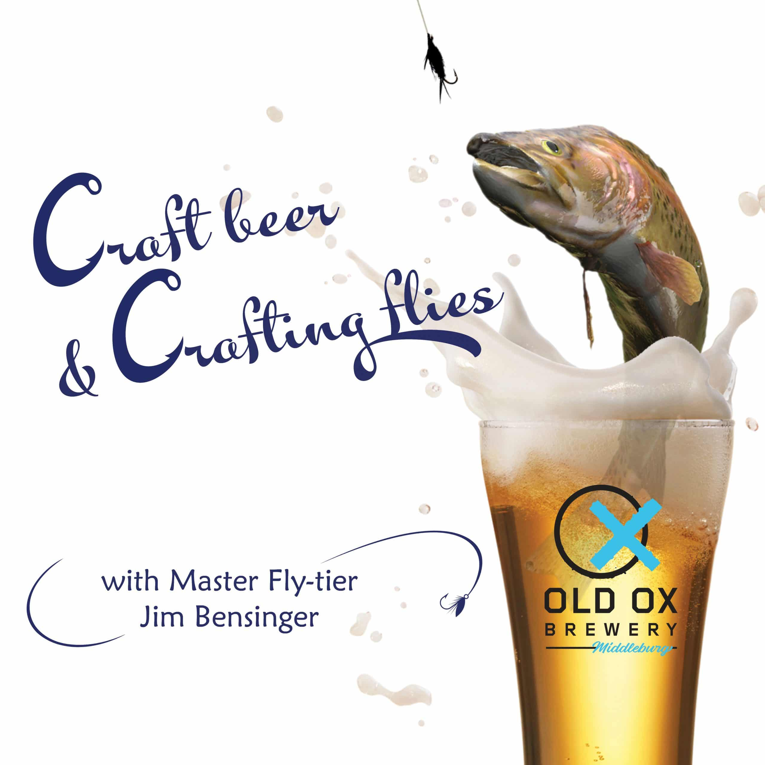 Craft Beer and Crafting Flies flyer