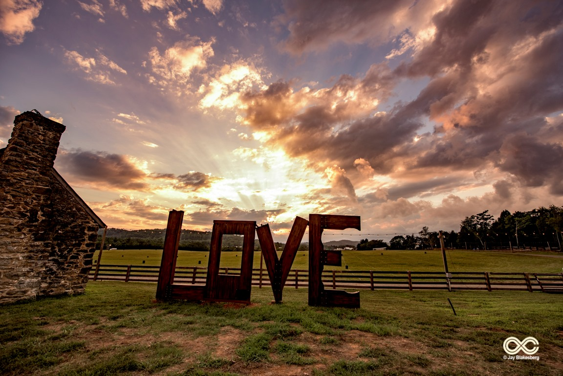 LOVE sign at LOCKN' Fest