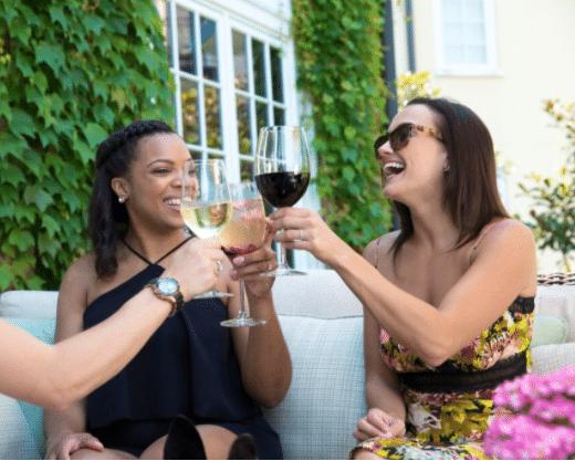 Women enjoying wine at Salamander Resort