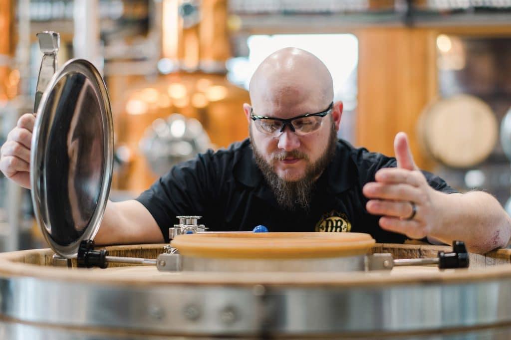 Brewer at Devils Backbone Brewing Company
