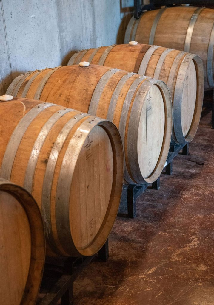 Ankida Ridge Vineyards Wine Barrels