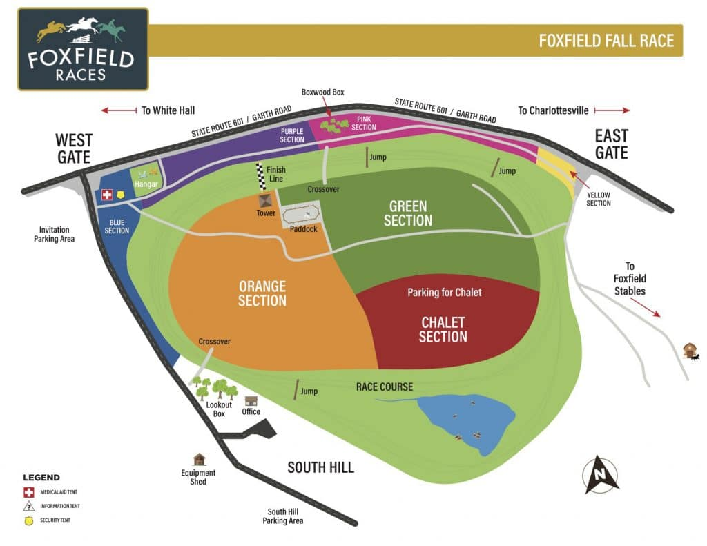 Foxfield parking map for the 2021 races