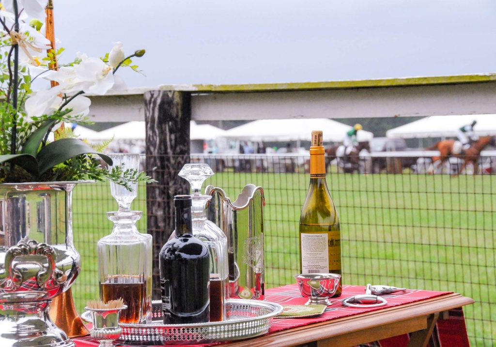 Elegant tailgate spread at the Foxfield races