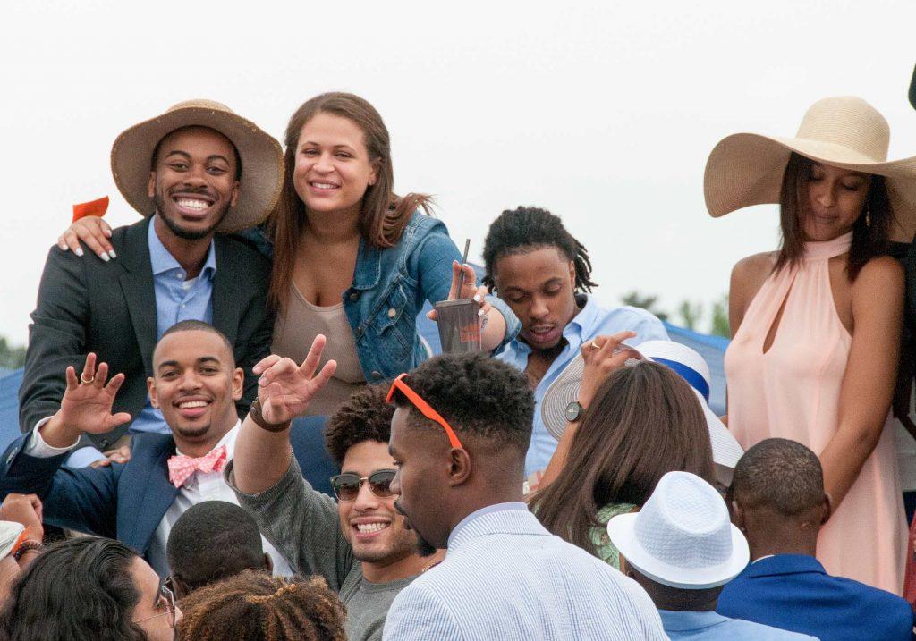 UVA students at Foxfield races in Charlottesville, Virginia