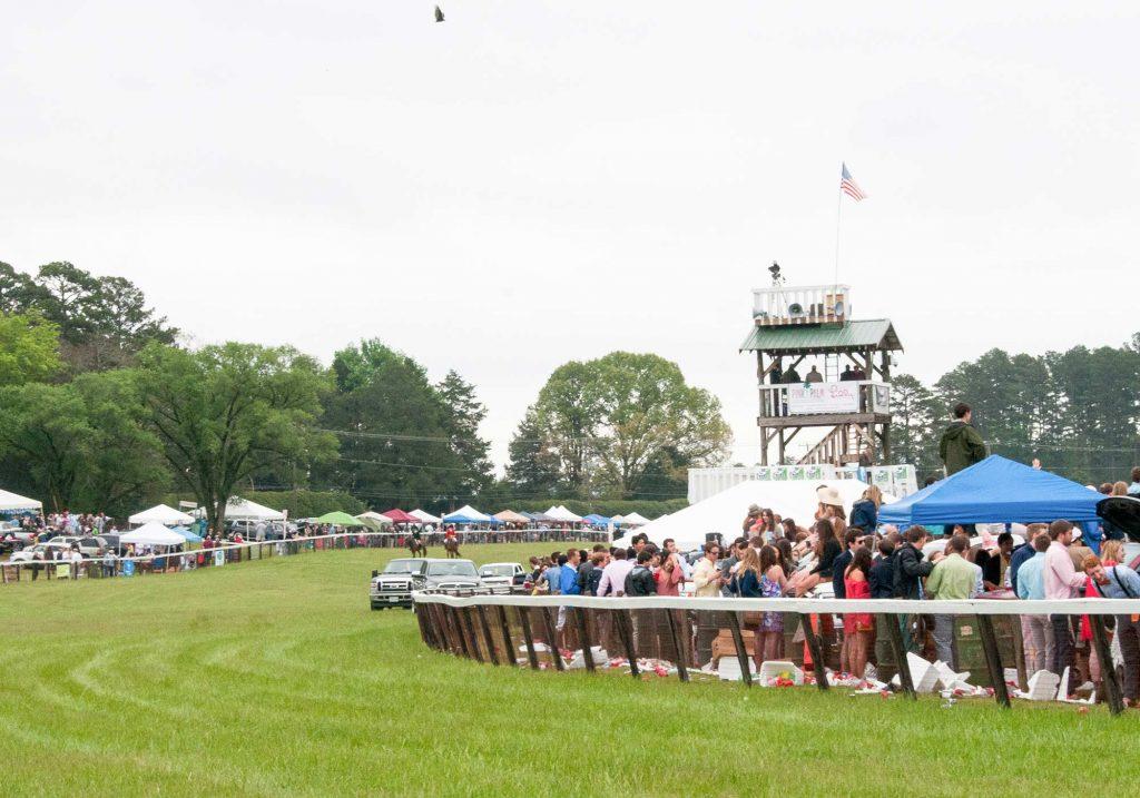 Spectators at the Foxfield races in Charlottesville, Virginia