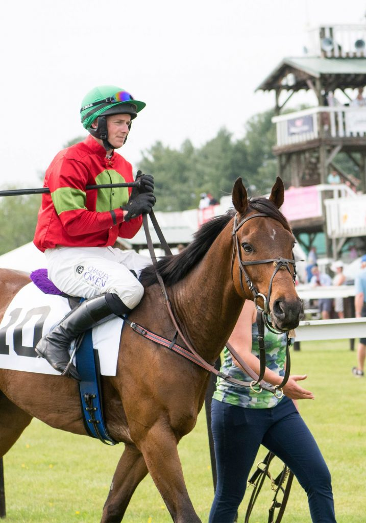 Jockey and horse at the Foxfield races in Charlottesville