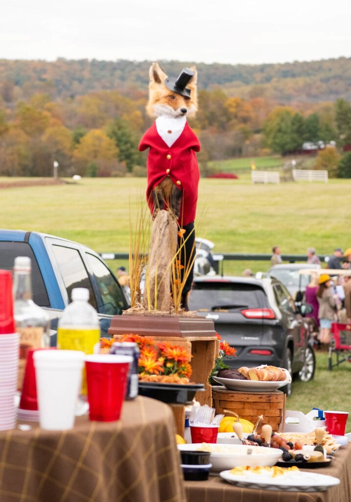 Virginia Gold Cup fox hunt decor, Image: © Wine & Country Life