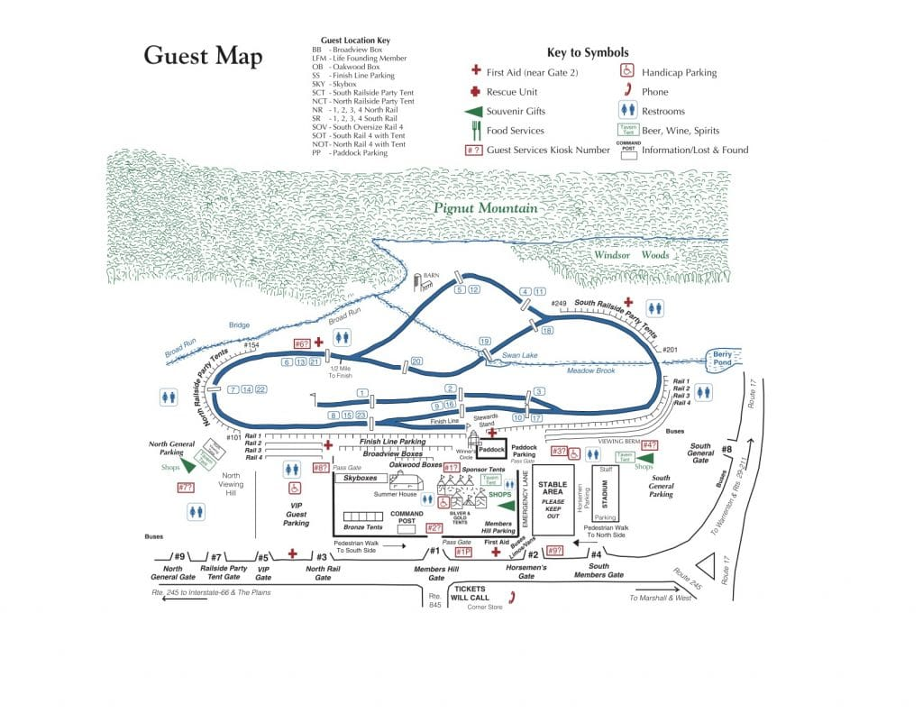 International Gold Cup Races Map