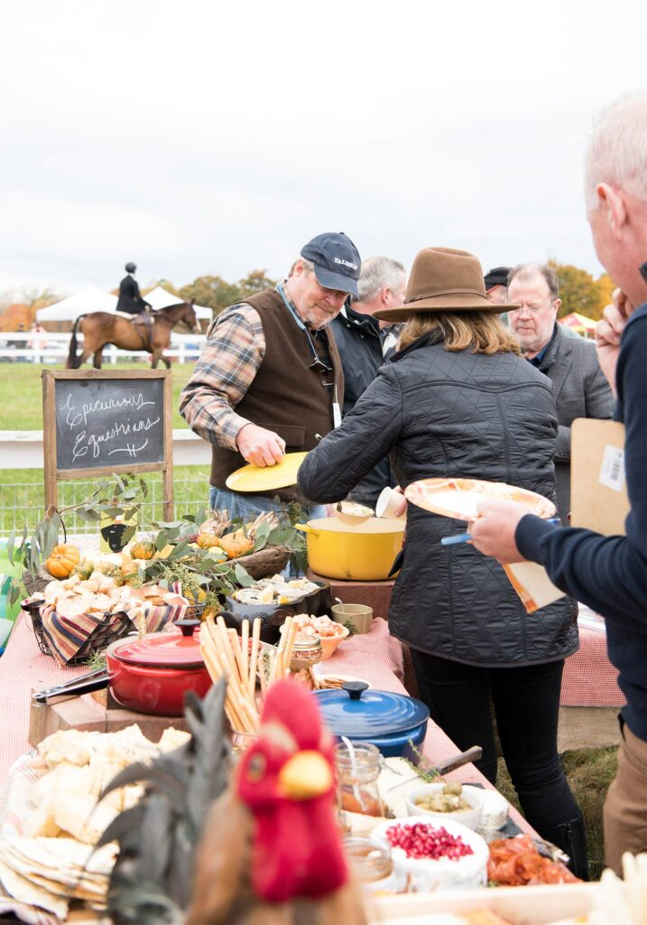 Montpelier Hunt Races tailgate serving, Image: © Wine & Country Life