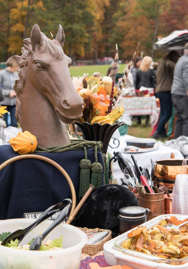 Montpelier Hunt Races equestrian decor, Image: © Wine & Country Life