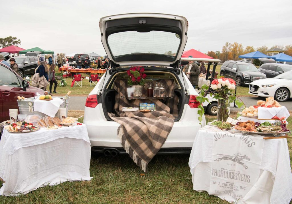 Montpelier Hunt Races Tailgate setup, Image: © Wine & Country Life