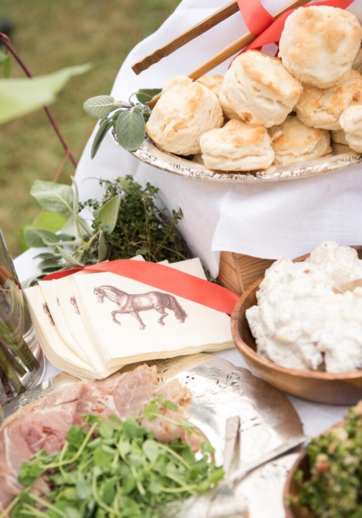 Montpelier Hunt Races tailgate spread, Image: © Wine & Country Life