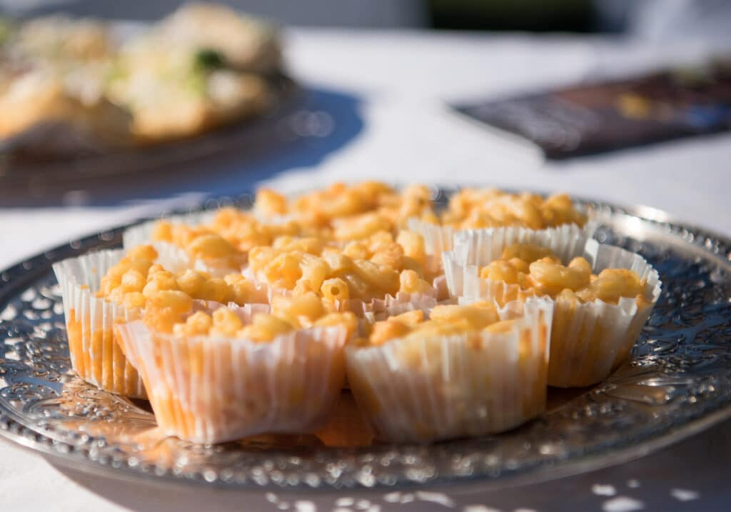 Montpelier Hunt Races mac and cheese cups, Image: © Wine & Country Life