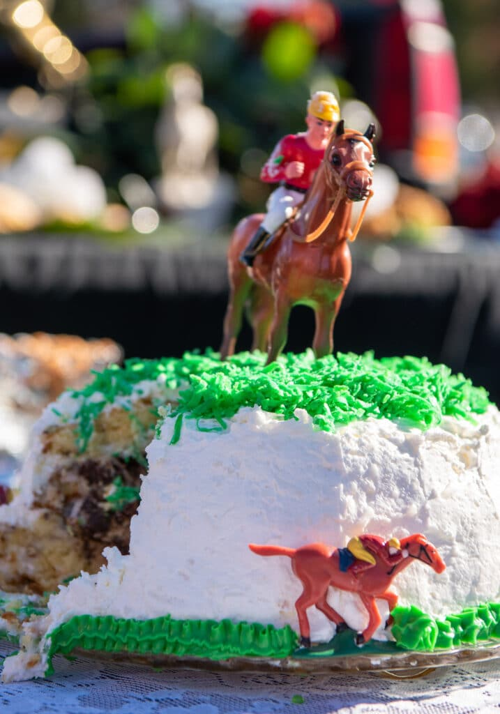 horse cake Montpelier Hunt Races, Image by © RL Johnson for Wine & Country Life