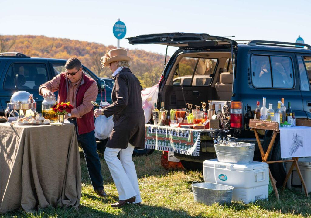 Montpelier Hunt Races trunk tailgate, Image: © Wine & Country Life