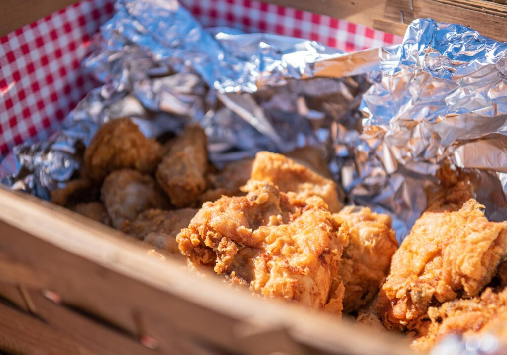 Montpelier Hunt Races fried chicken, Image: © Wine & Country Life