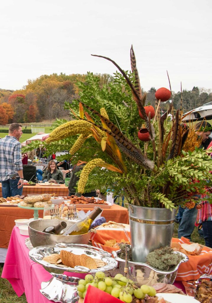 Montpelier Hunt Races floral decor, Image: © Wine & Country Life