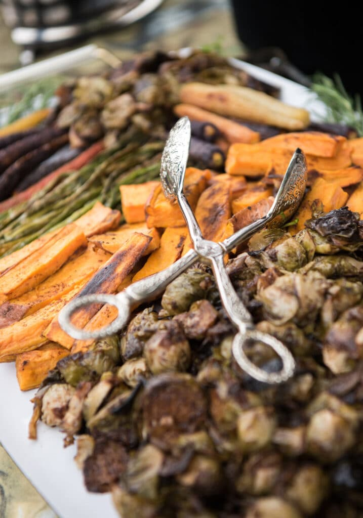 Montpelier Hunt Races Roasted Vegetables, Image: © Wine & Country Life