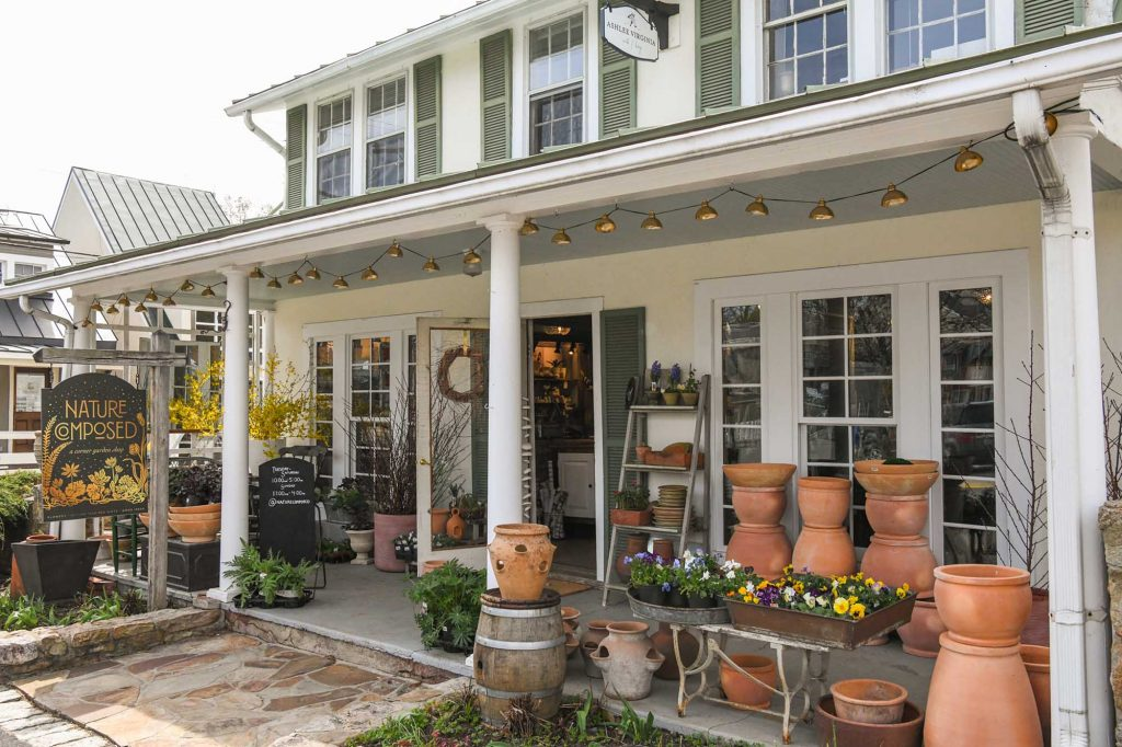 Front patio of Nature Composed in Middleburg by photographer RL Johnson