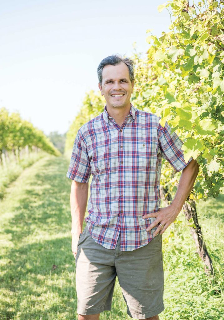 Keswick Vineyards' Winemaker Stephen Barnard