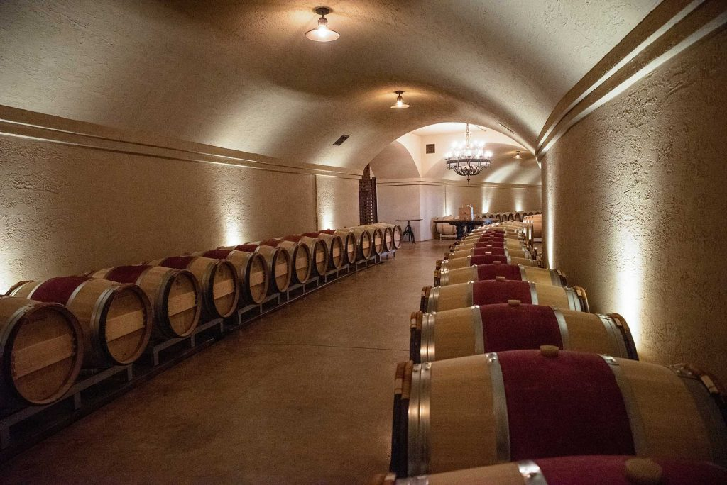 Stone Tower Winery cellar in Leesburg by photographer RL Johnson