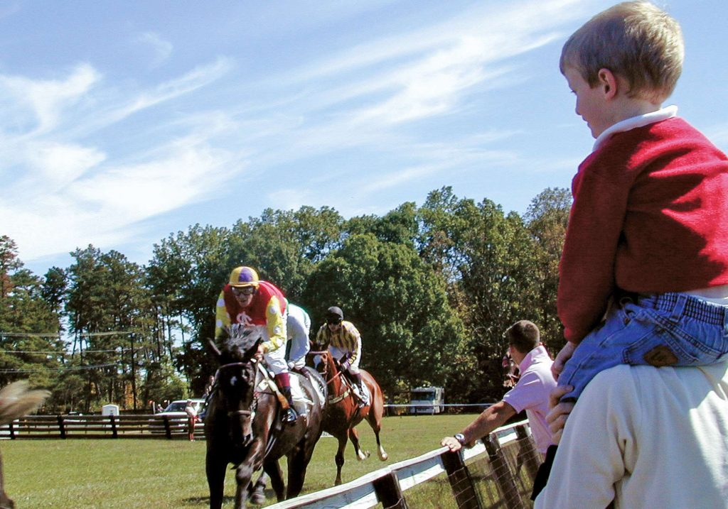 Foxfield spectators at the Family Day fall Foxfield races