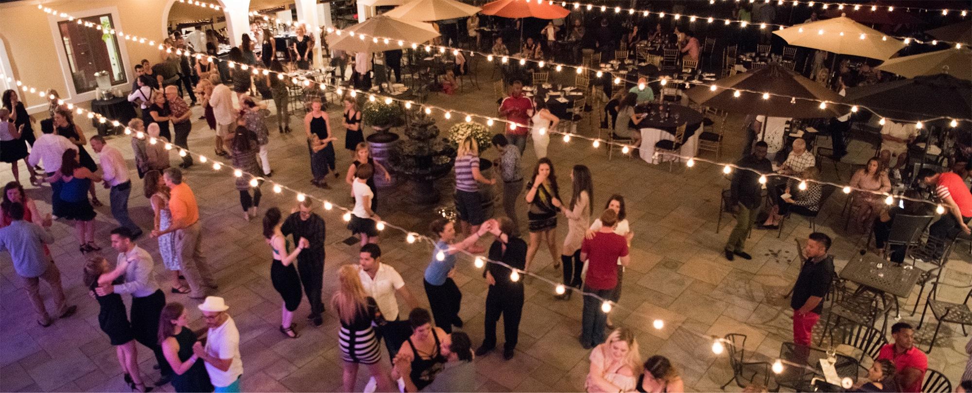 salsa under the stars at CrossKeys Vineyards
